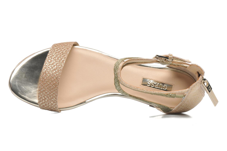 Sandales et nu-pieds Guess Jill Or et bronze vue gauche