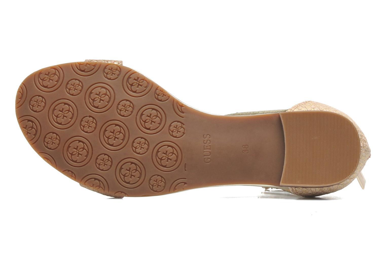 Sandales et nu-pieds Guess Jill Or et bronze vue haut
