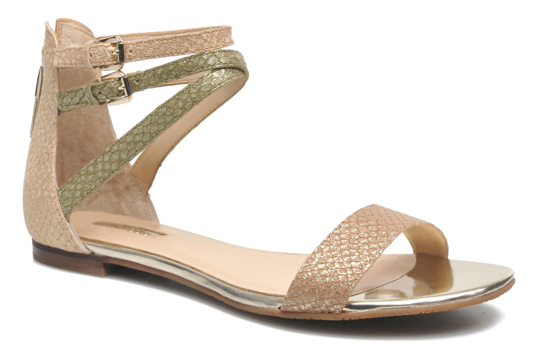 Sandales et nu-pieds Guess Jill Or et bronze vue détail/paire