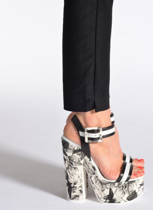 Sandals Vicini Safine Black view from underneath / model view