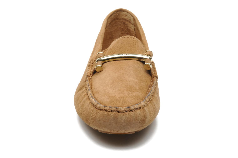 Mocassins Lauren by Ralph Lauren Caliana Beige vue portées chaussures