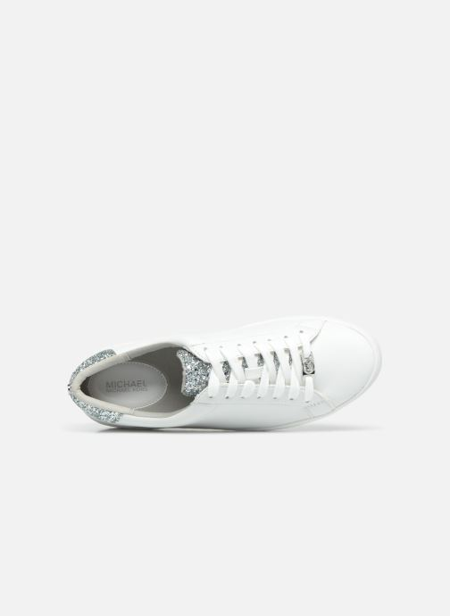 Deportivas Michael Michael Kors Irving Lace Up Blanco vista lateral izquierda