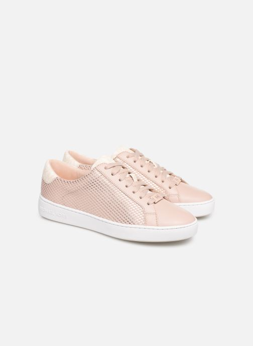 Deportivas Michael Michael Kors Irving Lace Up Rosa vista 3/4