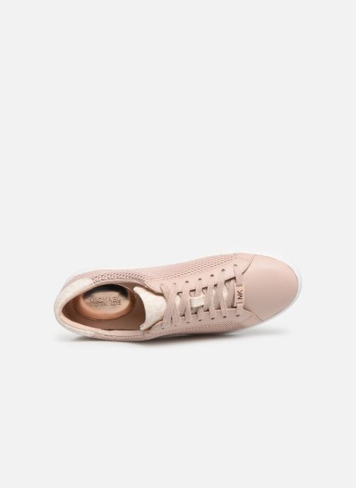Deportivas Michael Michael Kors Irving Lace Up Rosa vista lateral izquierda