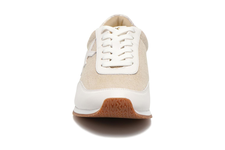 Baskets Michael Michael Kors Stanton trainer Beige vue portées chaussures