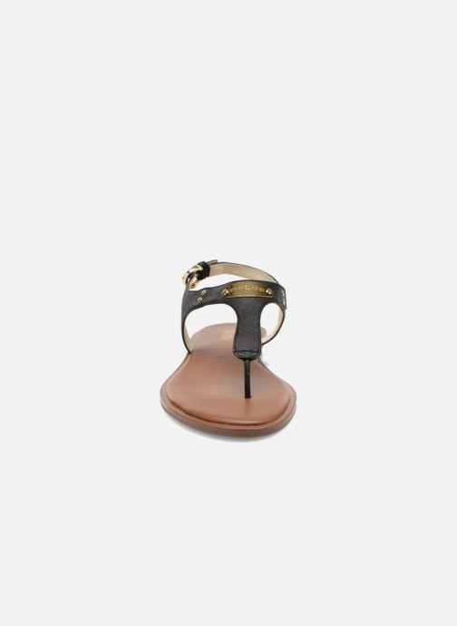 Sandals Michael Michael Kors MK Plate Thong Black model view