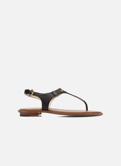 Sandals Michael Michael Kors MK Plate Thong Black back view