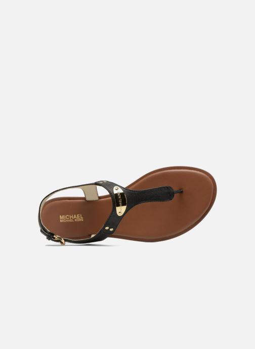 Sandals Michael Michael Kors MK Plate Thong Black view from the left