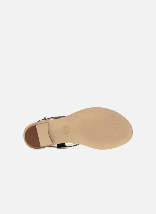 Sandals Michael Michael Kors MK Plate Thong Black view from above
