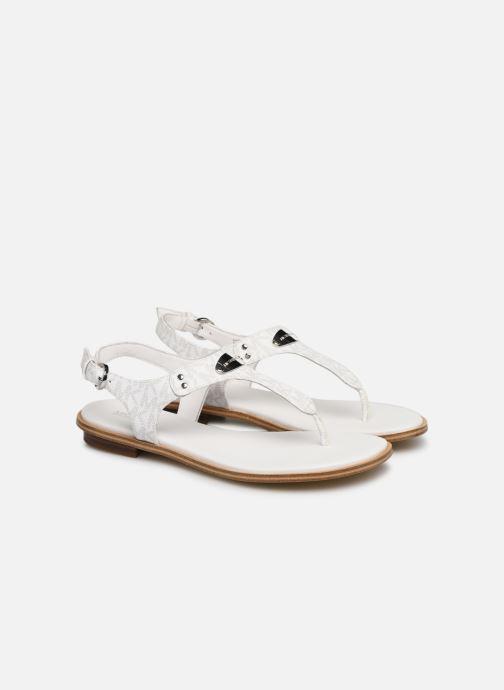 Sandales et nu-pieds Michael Michael Kors MK Plate Thong Blanc vue 3/4