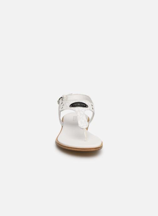 Sandales et nu-pieds Michael Michael Kors MK Plate Thong Blanc vue portées chaussures