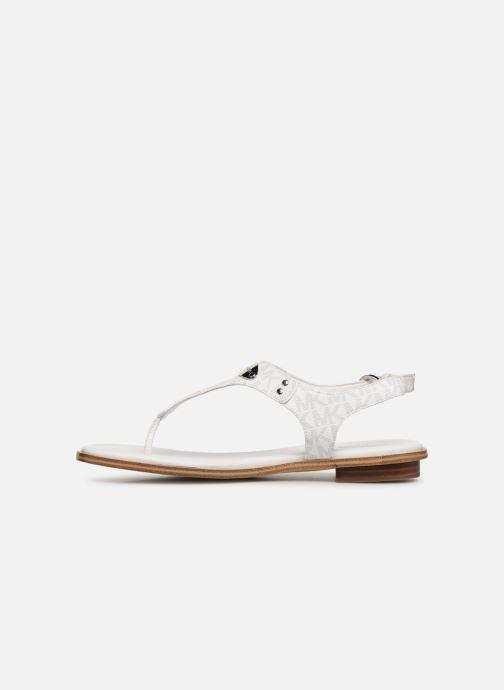 Sandales et nu-pieds Michael Michael Kors MK Plate Thong Blanc vue face