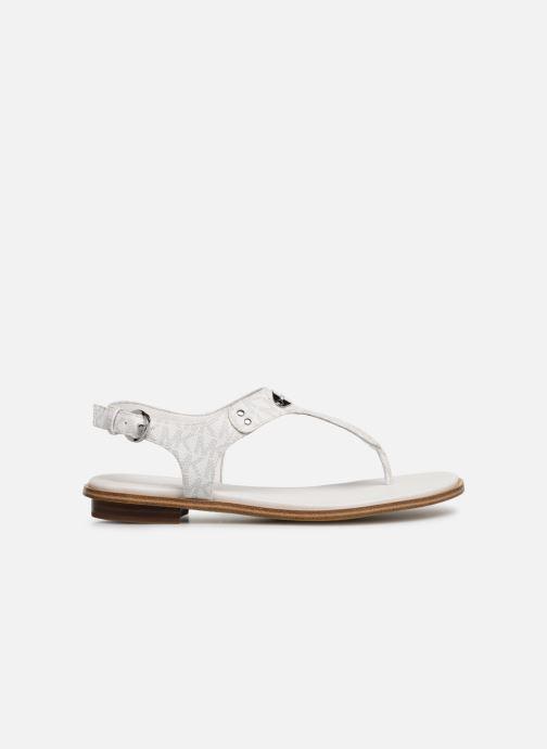 Sandales et nu-pieds Michael Michael Kors MK Plate Thong Blanc vue derrière