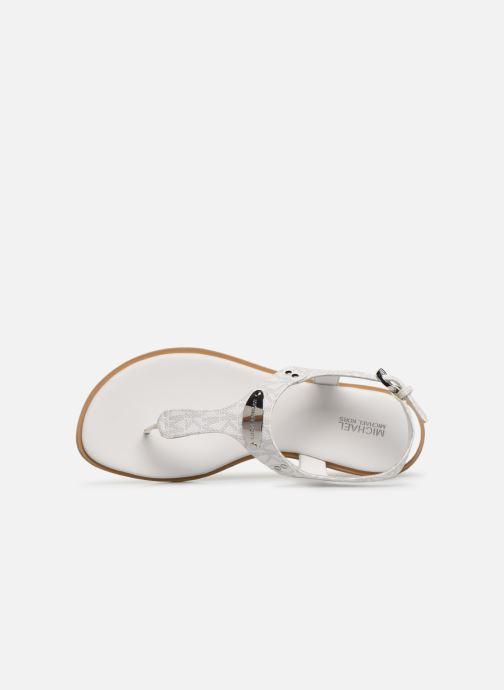 Sandalias Michael Michael Kors MK Plate Thong Blanco vista lateral izquierda
