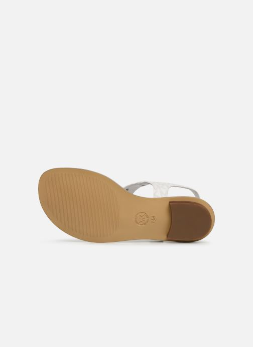 Sandales et nu-pieds Michael Michael Kors MK Plate Thong Blanc vue haut