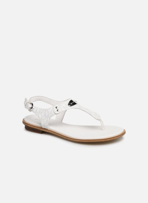 Sandales et nu-pieds Michael Michael Kors MK Plate Thong Blanc vue détail/paire