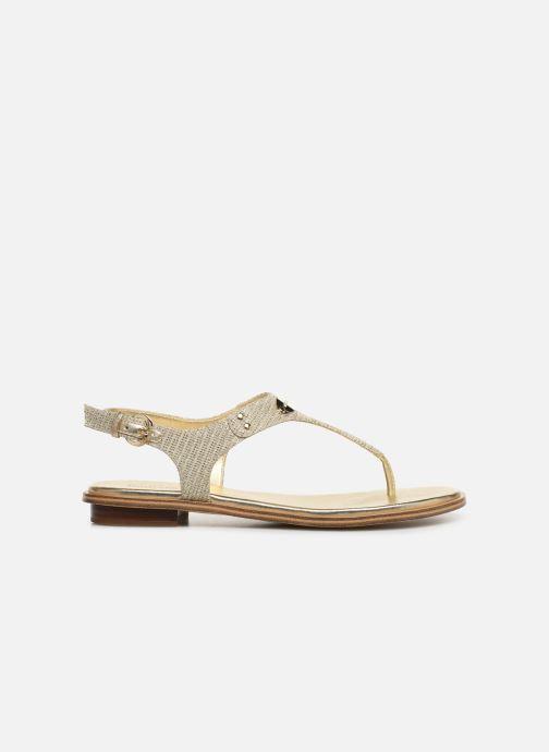 Sandales et nu-pieds Michael Michael Kors MK Plate Thong Or et bronze vue derrière