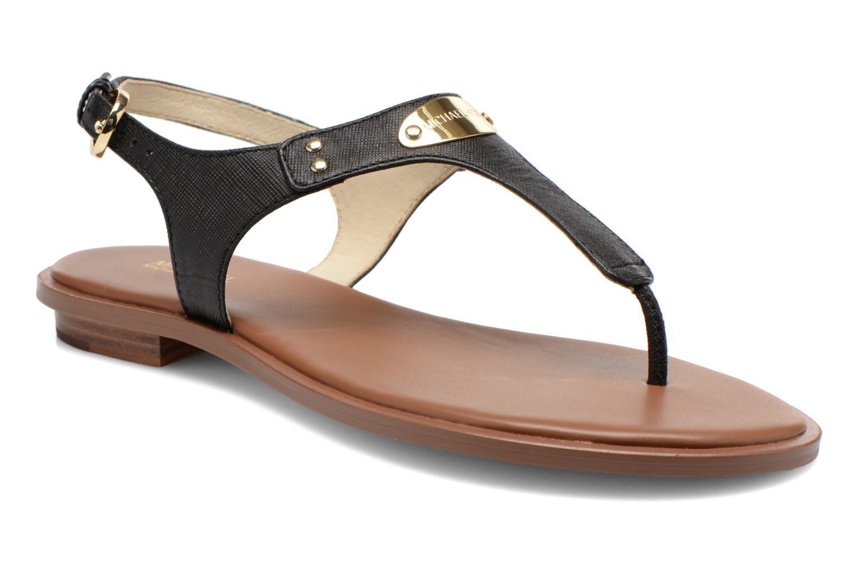 Sandals Michael Michael Kors MK Plate Thong Black detailed view/ Pair view