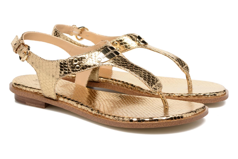 Sandales et nu-pieds Michael Michael Kors MK Plate Thong Or et bronze vue 3/4
