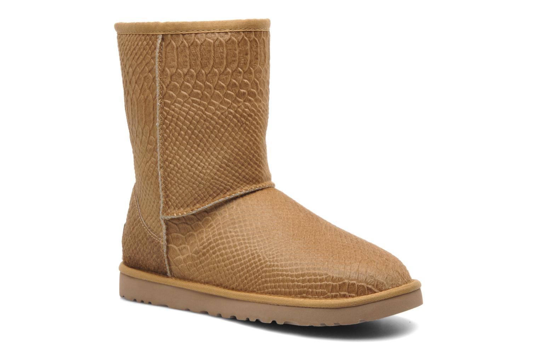ugg classic short cow hair snake brun boots p sarenza se 206827 rh sarenza se