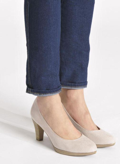 Zapatos de tacón Marco Tozzi Lolly Beige vista de abajo
