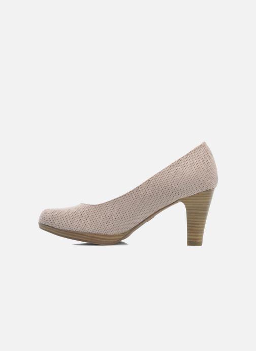 Zapatos de tacón Marco Tozzi Lolly Beige vista de frente