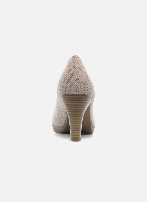 Zapatos de tacón Marco Tozzi Lolly Beige vista lateral derecha
