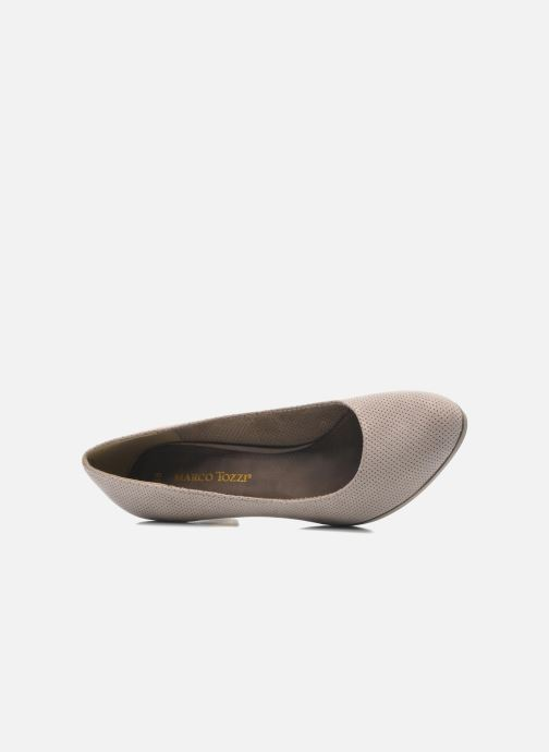 Zapatos de tacón Marco Tozzi Lolly Beige vista lateral izquierda