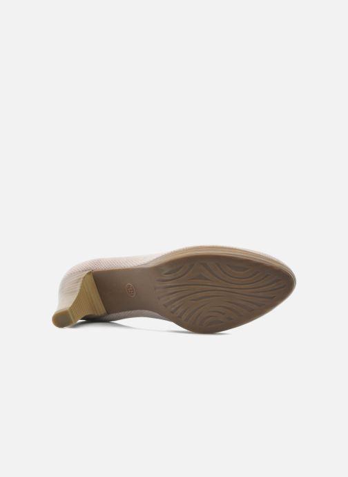 Zapatos de tacón Marco Tozzi Lolly Beige vista de arriba