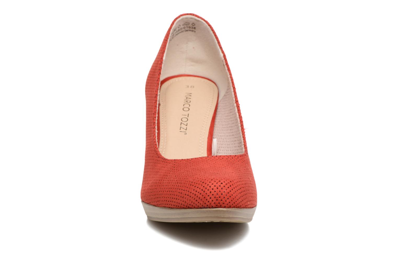 Escarpins Marco Tozzi Lolly Rouge vue portées chaussures
