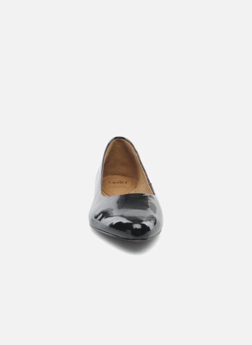 Ballerines Caprice Vinyle Noir vue portées chaussures