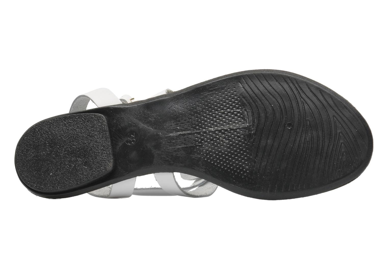 Sandales et nu-pieds Pieces Cathie leather studs Blanc vue haut