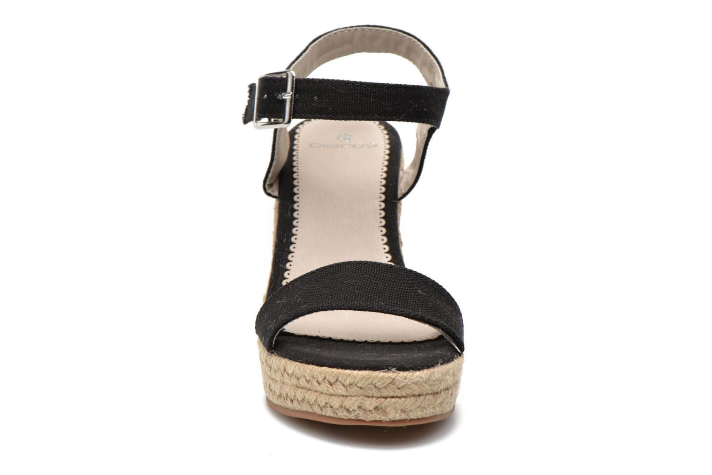 Sandales et nu-pieds Pieces Halloumi espadrillos Noir vue portées chaussures