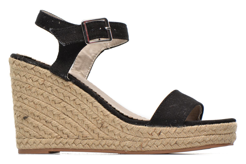 Sandales et nu-pieds Pieces Halloumi espadrillos Noir vue derrière