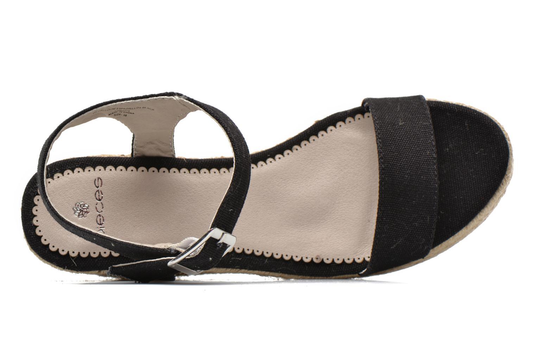 Sandales et nu-pieds Pieces Halloumi espadrillos Noir vue gauche