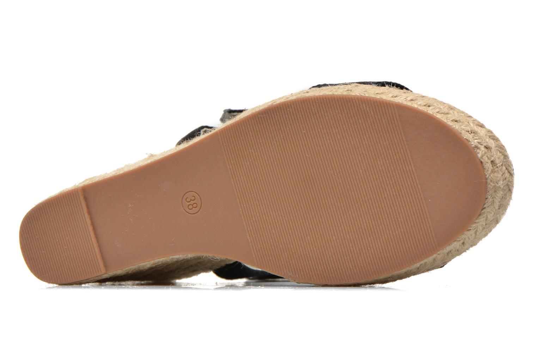 Sandales et nu-pieds Pieces Halloumi espadrillos Noir vue haut