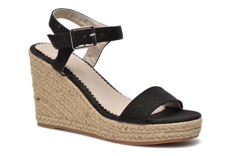 Sandales et nu-pieds Pieces Halloumi espadrillos Noir vue détail/paire
