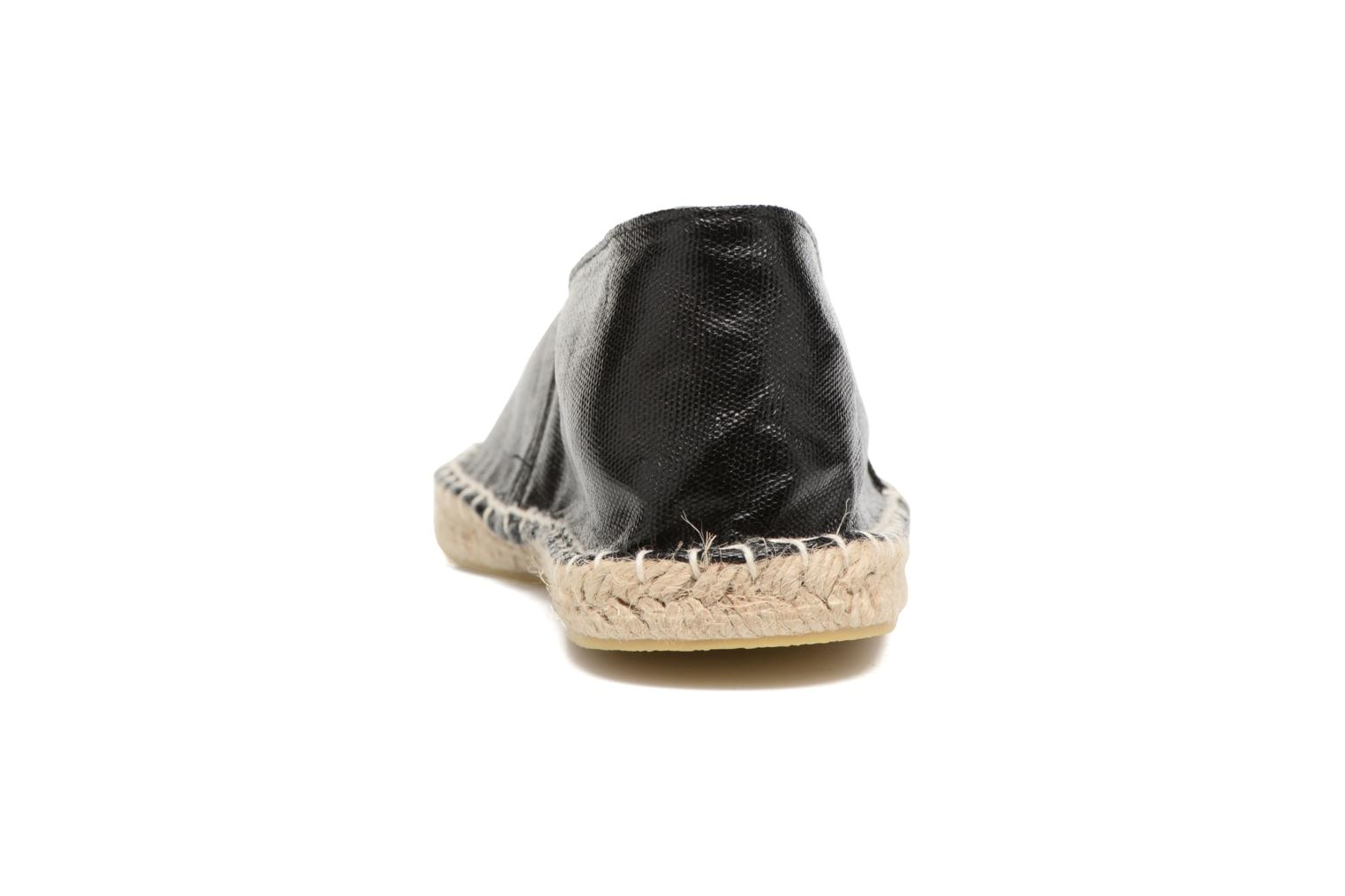 Espadrilles Pieces Haisha espadrillos Black view from the right