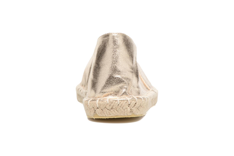 Alpargatas Pieces Haisha espadrillos Oro y bronce vista lateral derecha