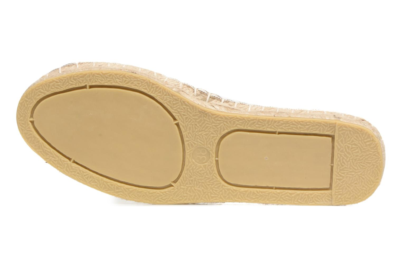 Alpargatas Pieces Haisha espadrillos Oro y bronce vista de arriba