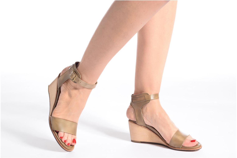 Sandales et nu-pieds Neosens Noah 237 Orange vue bas / vue portée sac