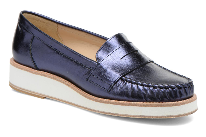 Loafers MAURICE manufacture Basso Blå detaljerad bild på paret