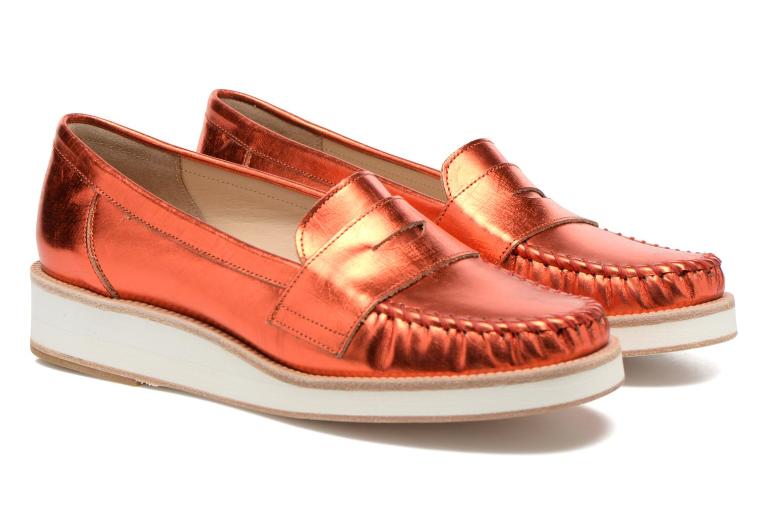 Mocassins MAURICE manufacture Basso Orange vue 3/4
