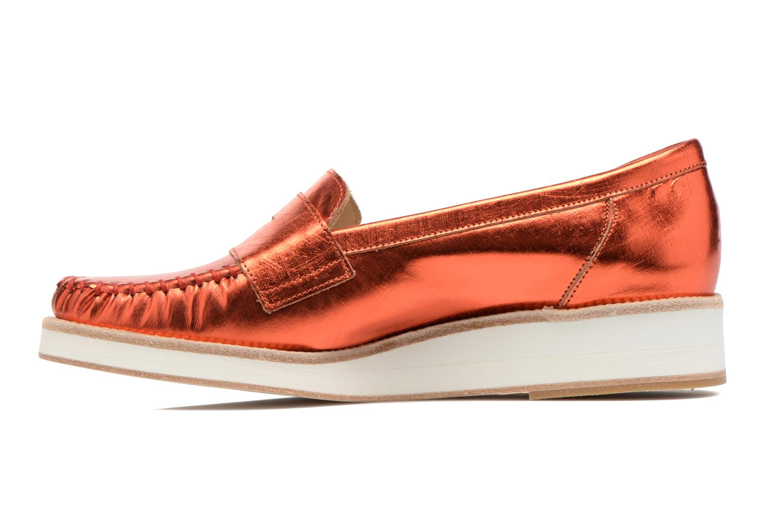 Mocassins MAURICE manufacture Basso Orange vue face