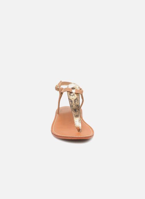 Sandales et nu-pieds L'Atelier Tropézien Alice Marron vue portées chaussures