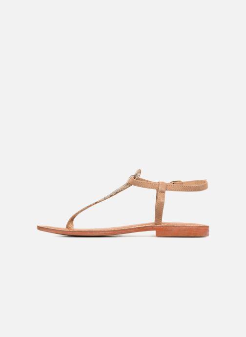 Sandales et nu-pieds L'Atelier Tropézien Alice Marron vue face