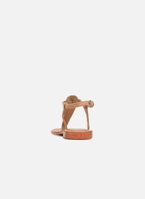 Sandales et nu-pieds L'Atelier Tropézien Alice Marron vue droite