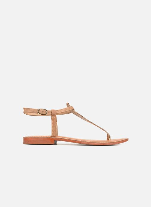 Sandales et nu-pieds L'Atelier Tropézien Alice Marron vue derrière