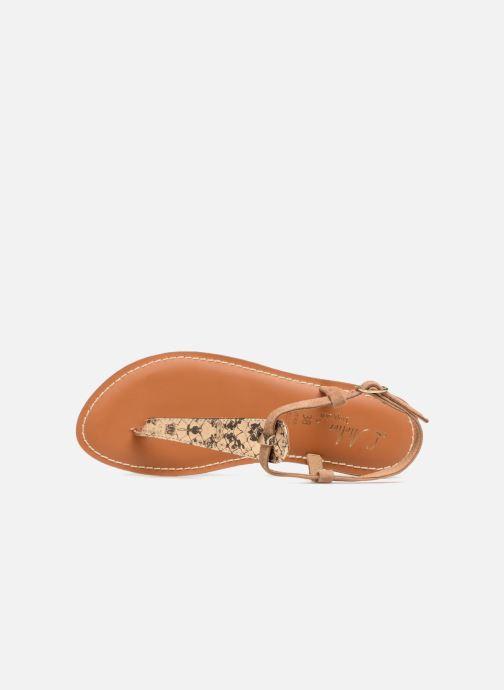 Sandales et nu-pieds L'Atelier Tropézien Alice Marron vue gauche