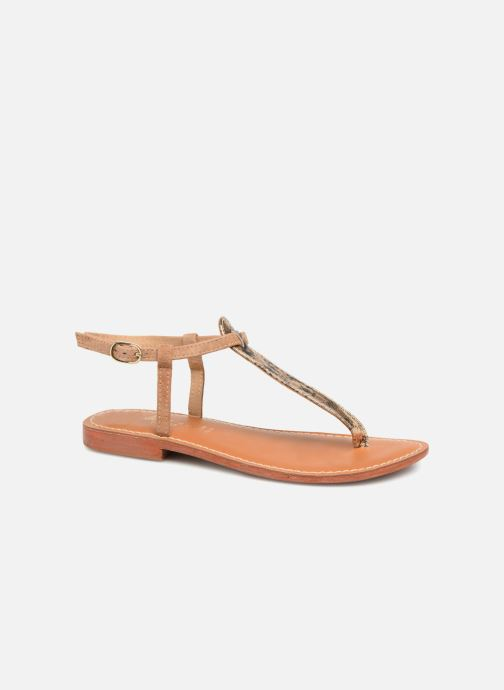 Sandales et nu-pieds L'Atelier Tropézien Alice Marron vue détail/paire